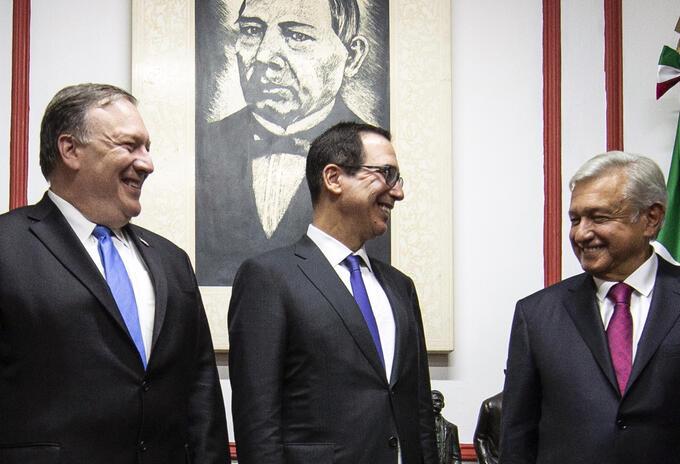 Mike Pompeo, Steven Mnuchin y López Obrador
