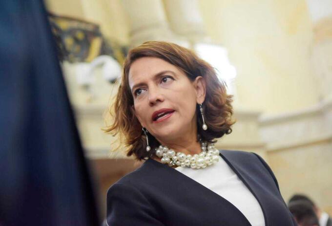 Nancy Patricia Gutiérrez, ministra del Interior, en el Congreso de la República