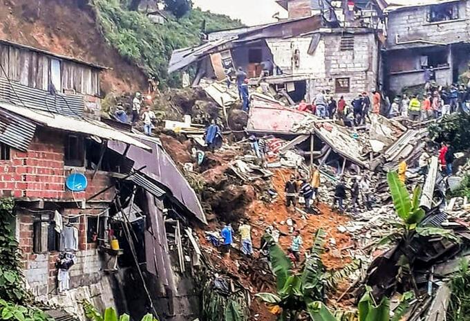 Marquetalia (Caldas) luego de los deslizamientos