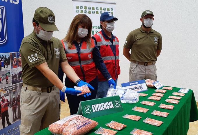 Drogas sintéticas decomisadas en Chile
