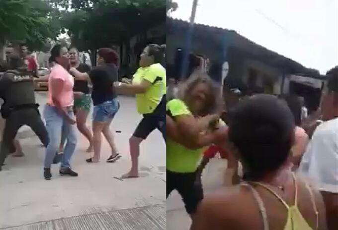Pelea de mujeres en Barranquilla