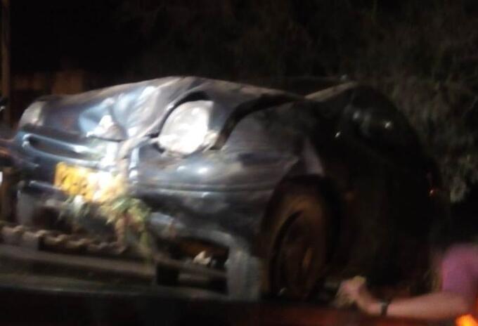 Accidente en la vía Sogamoso Nobsa por el sector de Siatáme.