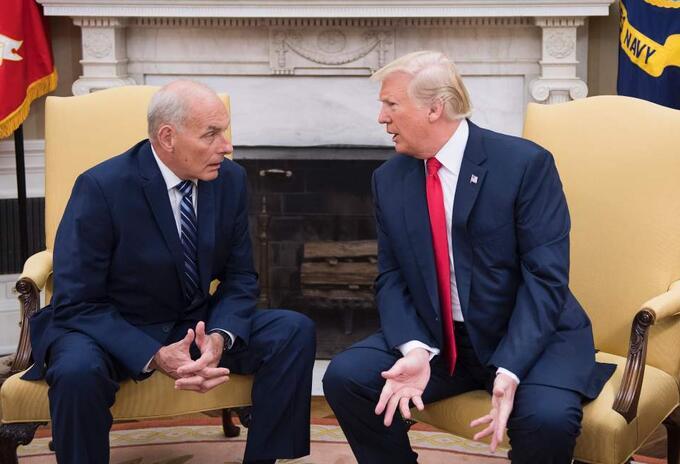 John Kelly y Donald Trump.