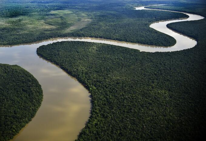 Río Inírida, en el departamento del Guainía