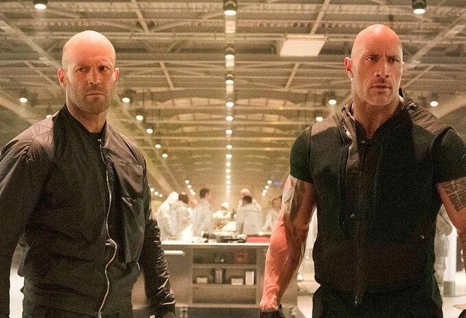 Jason Statham y Dwayne Johnson en Hobbs and Shaw
