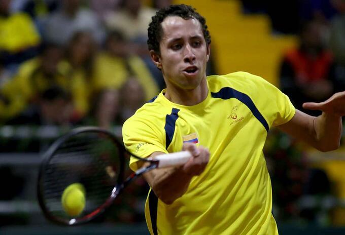 Copa Davis - Colombia vs Suecia Daniel Galán