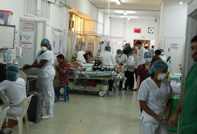 Así permanece el servicios de urgencias del Hospital Universitario de Santander