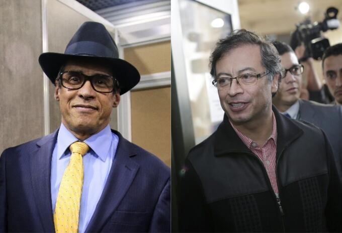 Wilson Borja y Gustavo Petro