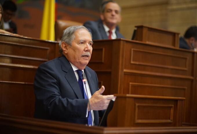 Ministro de Defensa, Guillermo Botero, en debate de moción de censura