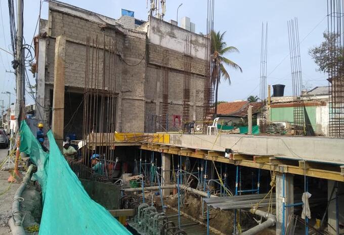 Construcción en Cartagena.