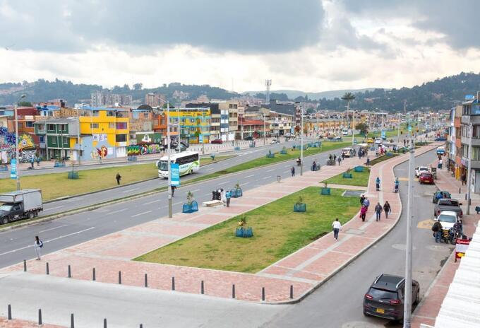Nueva Avenida Tabor (Calle 132), en el noroccidente de Bogotá.