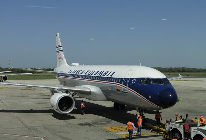 Avión de Avianca Retro, en conmemoración a los 100 años de la aerolínea