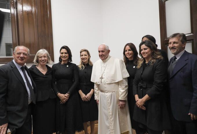 Papa Francisco, en reunión con primeras damas de Latinoamérica