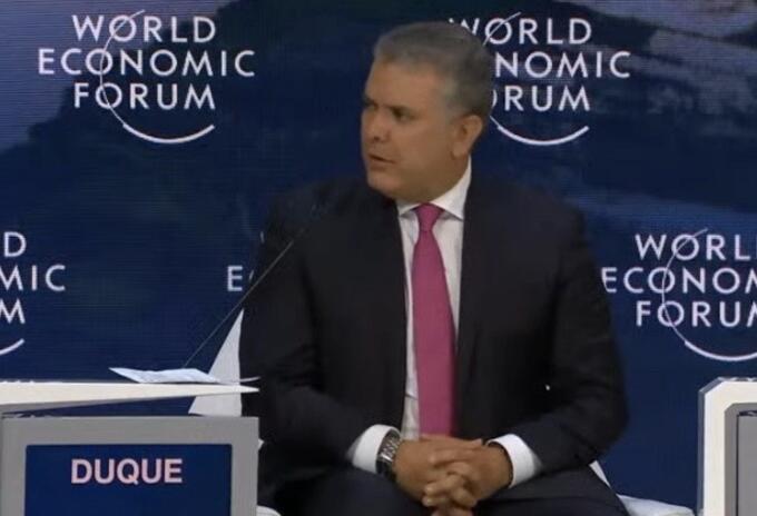 Presidente Iván Duque desde el Foro Económico Mundial en Davos (Suiza)