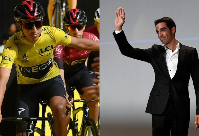 Egan Bernal - Alberto Contador