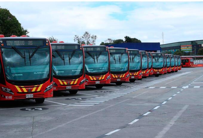 Los nuevos buses a gas de Transmilenio.
