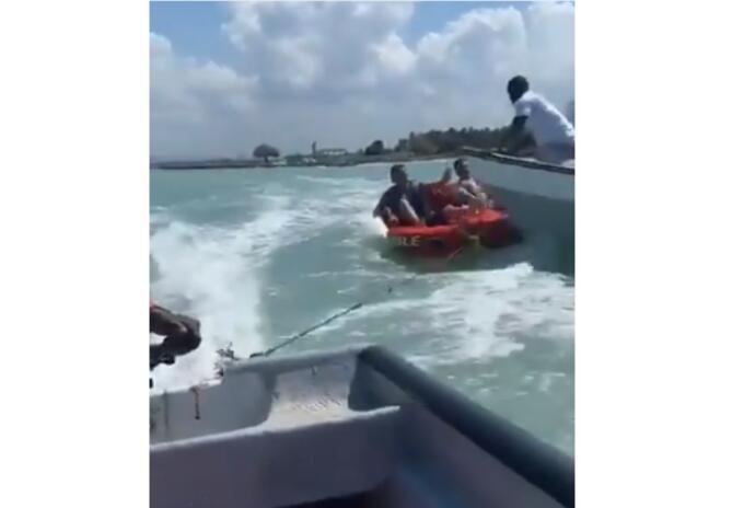 Un choque de embarcación en Cartagena