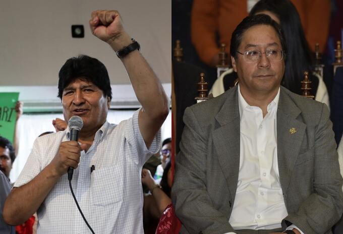 Evo Morales y Luis Arce