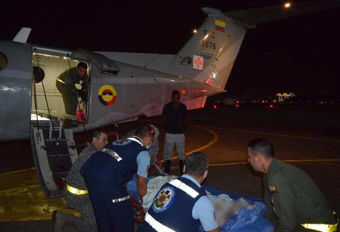 Avión Fuerza Aérea Colombiana