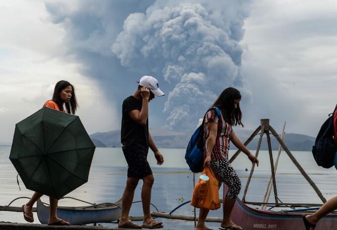 Alerta en Filipinas por el volcán Taal