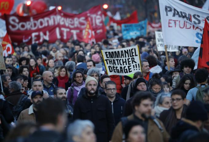 Manifestaciones en Francia contra reforma pensional