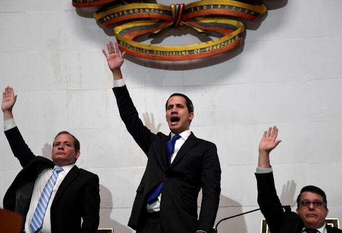 Juan Guaidó fue investido nuevamente como presidente interino de Venezuela