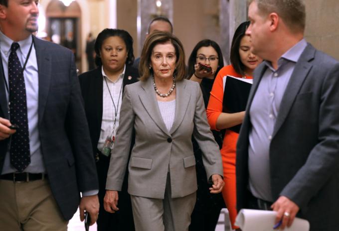 Nancy Pelosi, líder de la Cámara de Representantes