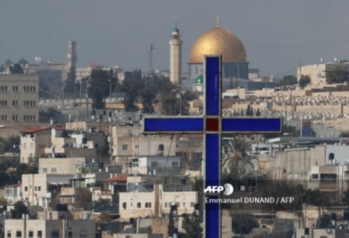 Vista a la Cúpula de la Roca desde Jerusalén del Este