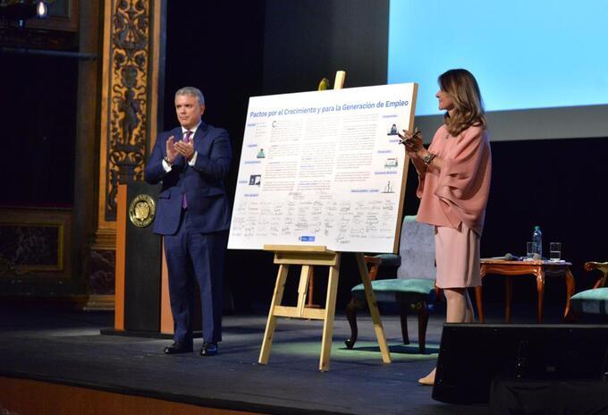 Vicepresidenta Marta Lucía Ramírez y el presidente Iván Duque.