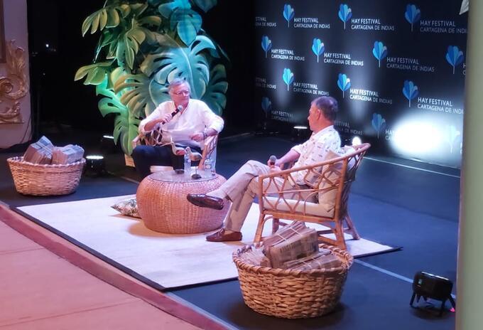 Juan Manuel Santos en el Hay Festival