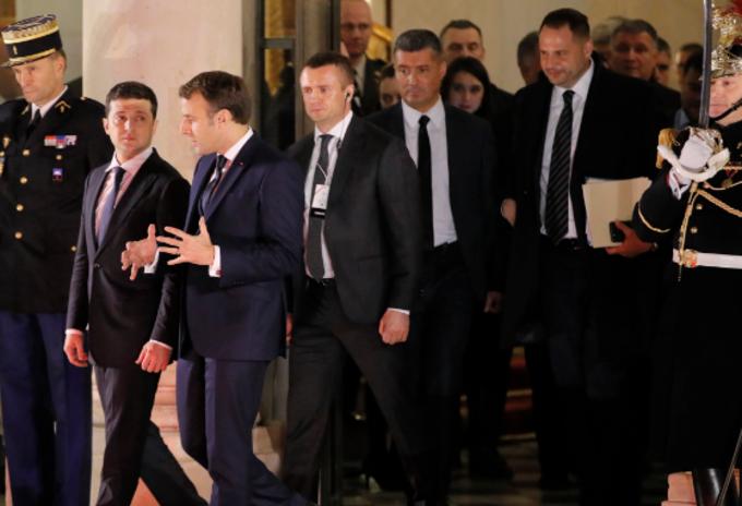 Volodímir Zelensky y Emmanuel Macron