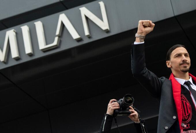 Zlatan en el Milán