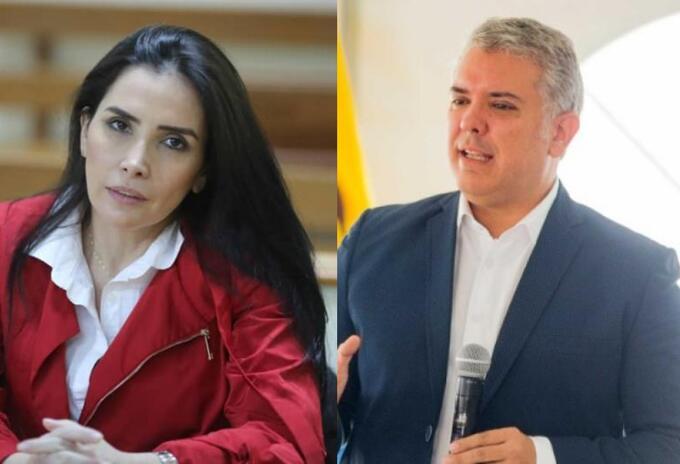 Iván Duque y Aida Merlano