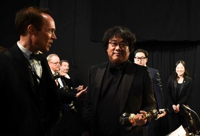 Bong Joon-ho en los Premios Oscar