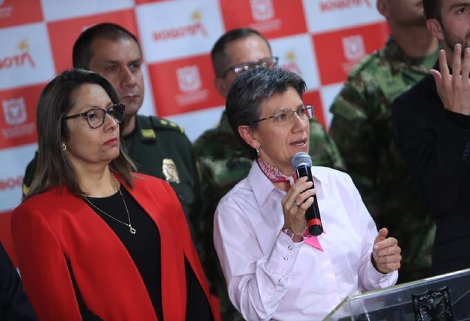 Claudia López, alcaldesa de Bogotá en rueda de prensa