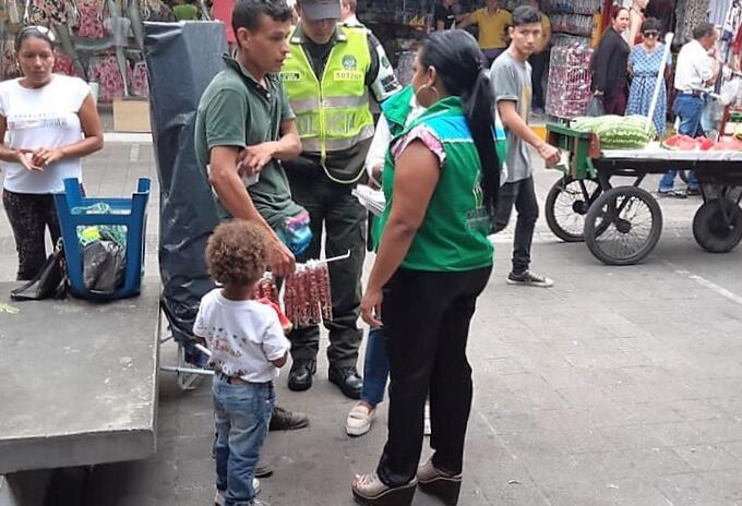 Menores hallados en condiciones de trabajo infantil en Villavicencio