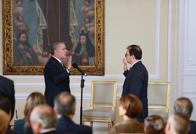 Posesión del fiscal General, Francisco Barbosa