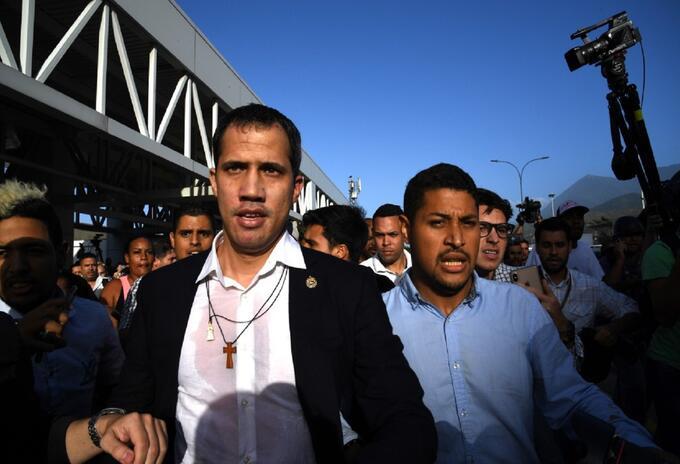 Juan Guaidó llega a Venezuela