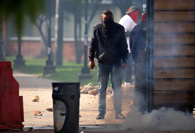 Paro de estudiantes / Capuchos / encapuchados / Universidad Nacional / disturbios / protestas