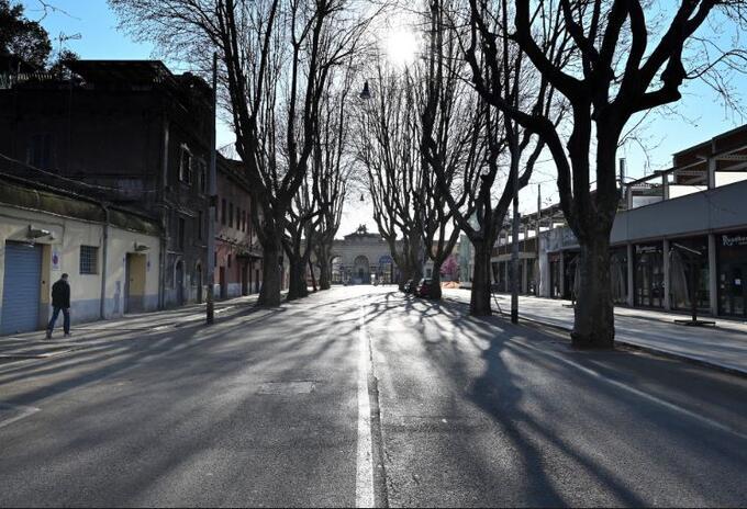 Así lucen las calles de Roma, Italia