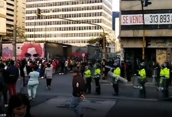 Desalojos en centro de Bogotá