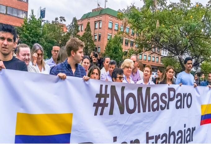 Movimientos contra las marchas en Colombia