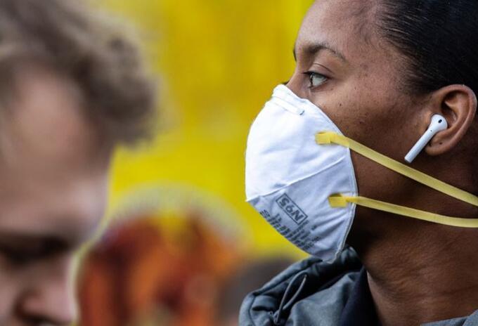 Coronavirus máscara y tapabocas. Imagen de ilustración.
