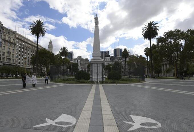 Coronavirus en Argentina - Plaza de Mayo