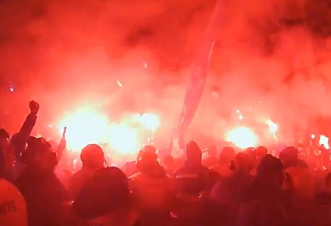 Ultras del PSG en Champions League