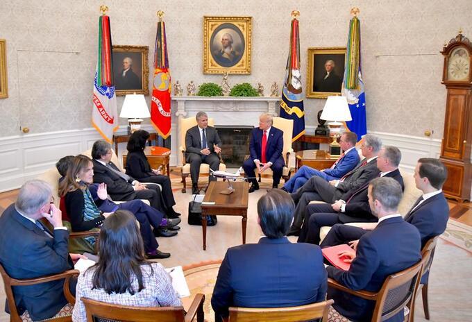 Reunión entre los presidentes Iván Duque y Donald Trump, en Estados Unidos.