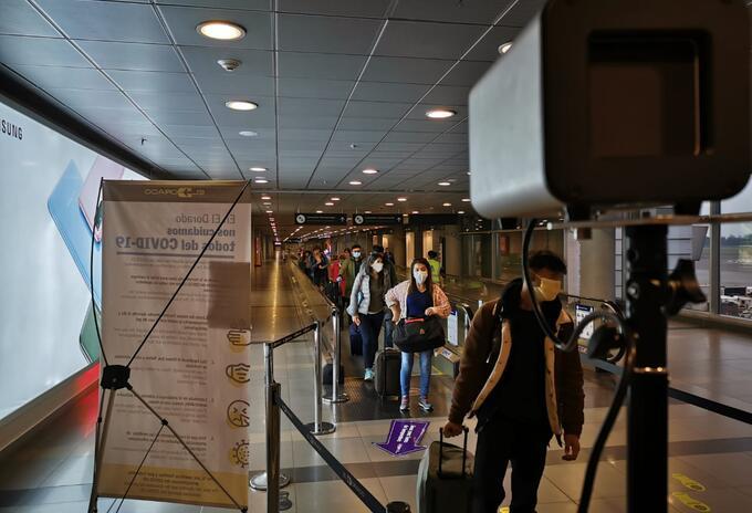 Cámaras de detección térmicas en el aeropuerto El Dorado