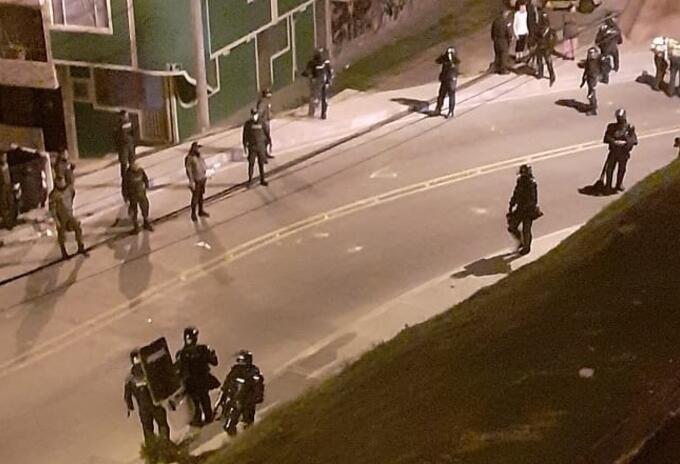 Intervención del Esmad en Ciudad Bolívar.