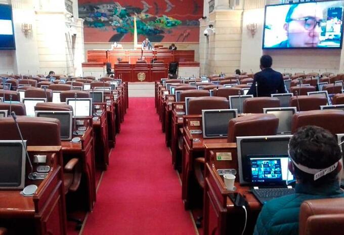 Cámara de Representantes así sesiona en tiempos de coronavirus