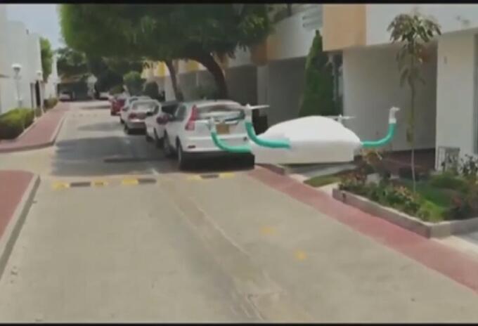 Dron con icopor